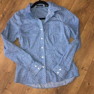 Eddie Bauer stretch wrinkle resistant blouse Sml